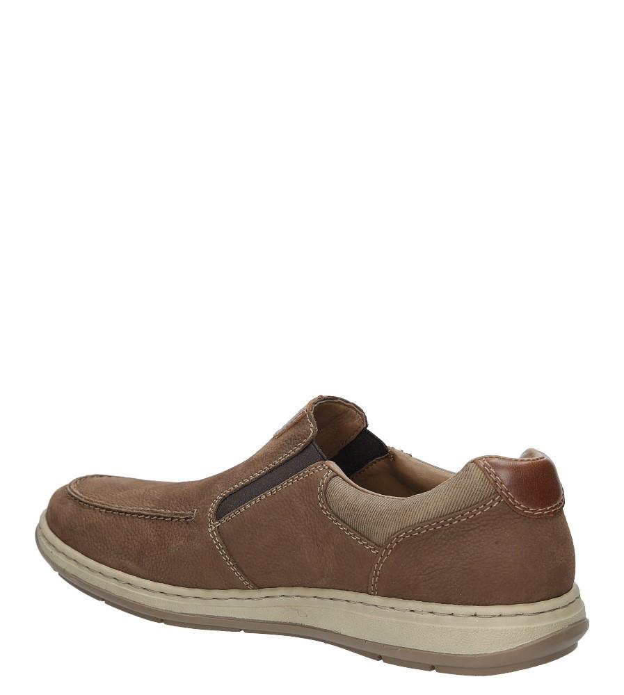 Brązowe półbuty skórzane Rieker 17360-21 kolor brązowy