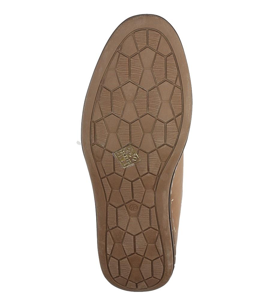 Brązowe półbuty sznurowane ze skórzaną wkładką Casu AB29 wys_calkowita_buta 12.5 cm