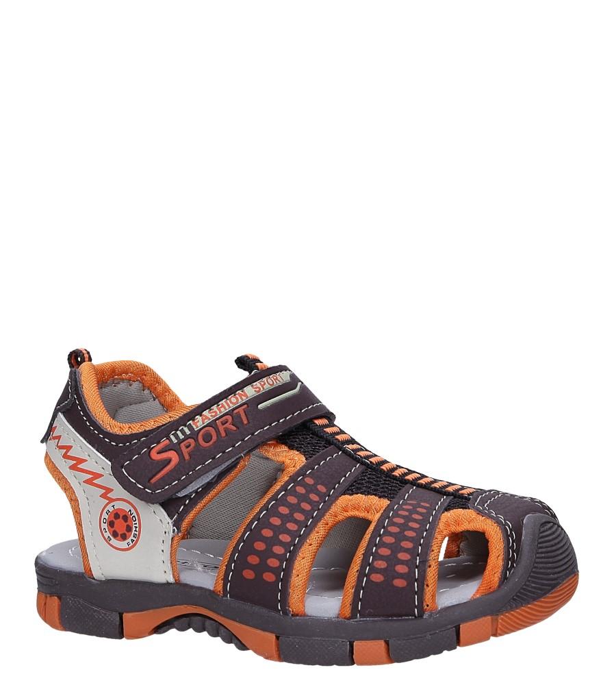 Brązowe sandały na rzep Casu 58005 producent Casu