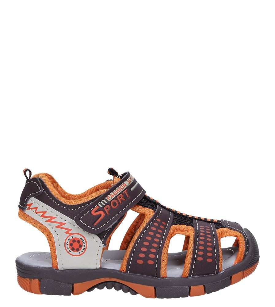 Brązowe sandały na rzep Casu 58005