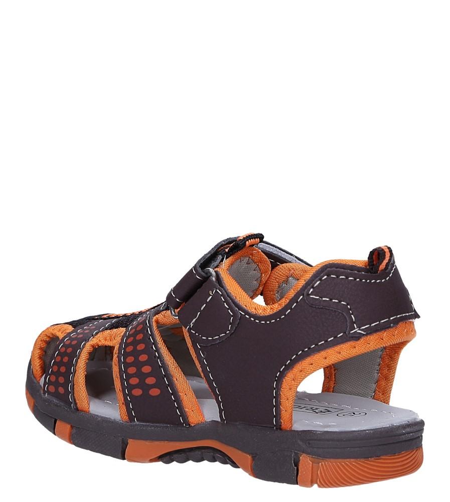 Brązowe sandały na rzep Casu 58005 sezon Lato