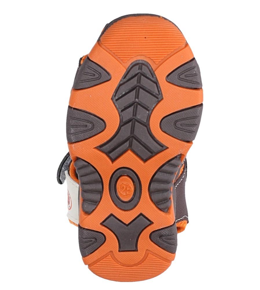 Brązowe sandały na rzep Casu 58005 wysokosc_platformy 1 cm