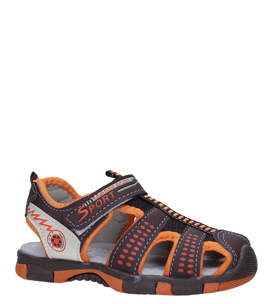 Brązowe sandały na rzep Casu 58006