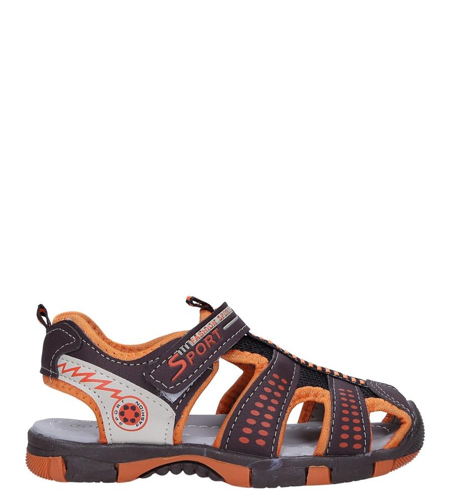 Brązowe sandały na rzep Casu 58006 model 58006