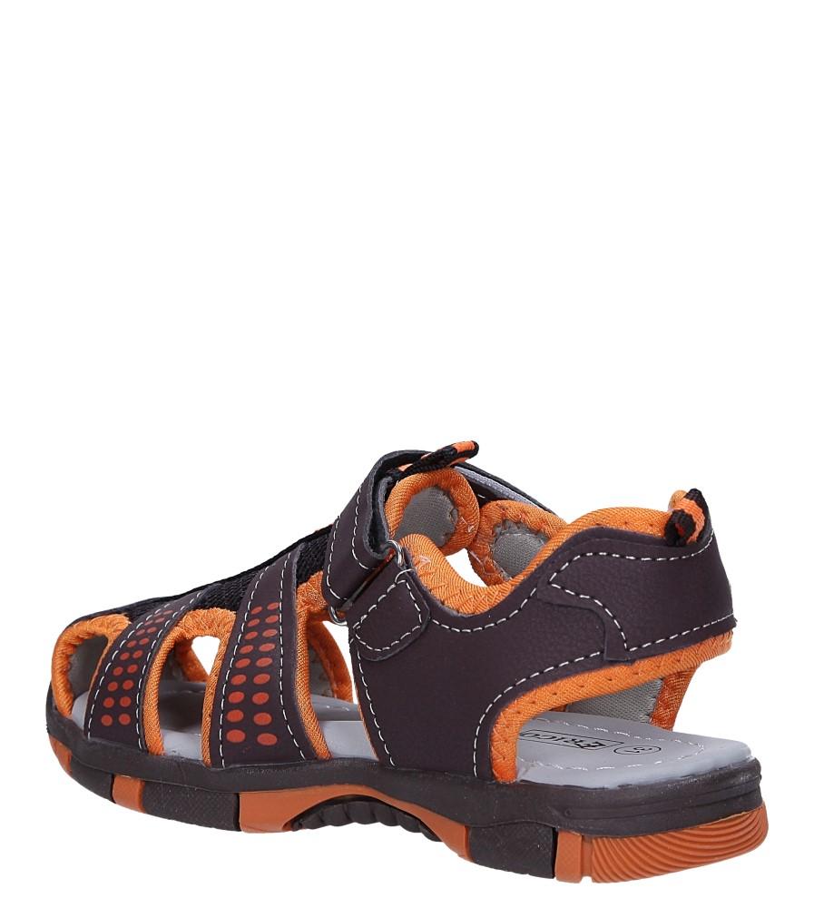 Brązowe sandały na rzep Casu 58006 sezon Lato