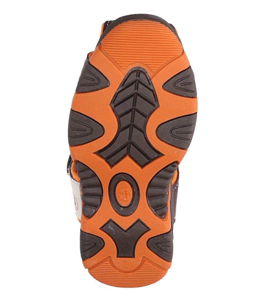Brązowe sandały na rzep Casu 58006 wysokosc_platformy 1 cm