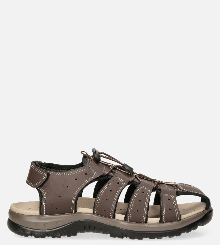Brązowe sandały na rzep Casu B9661 brązowy