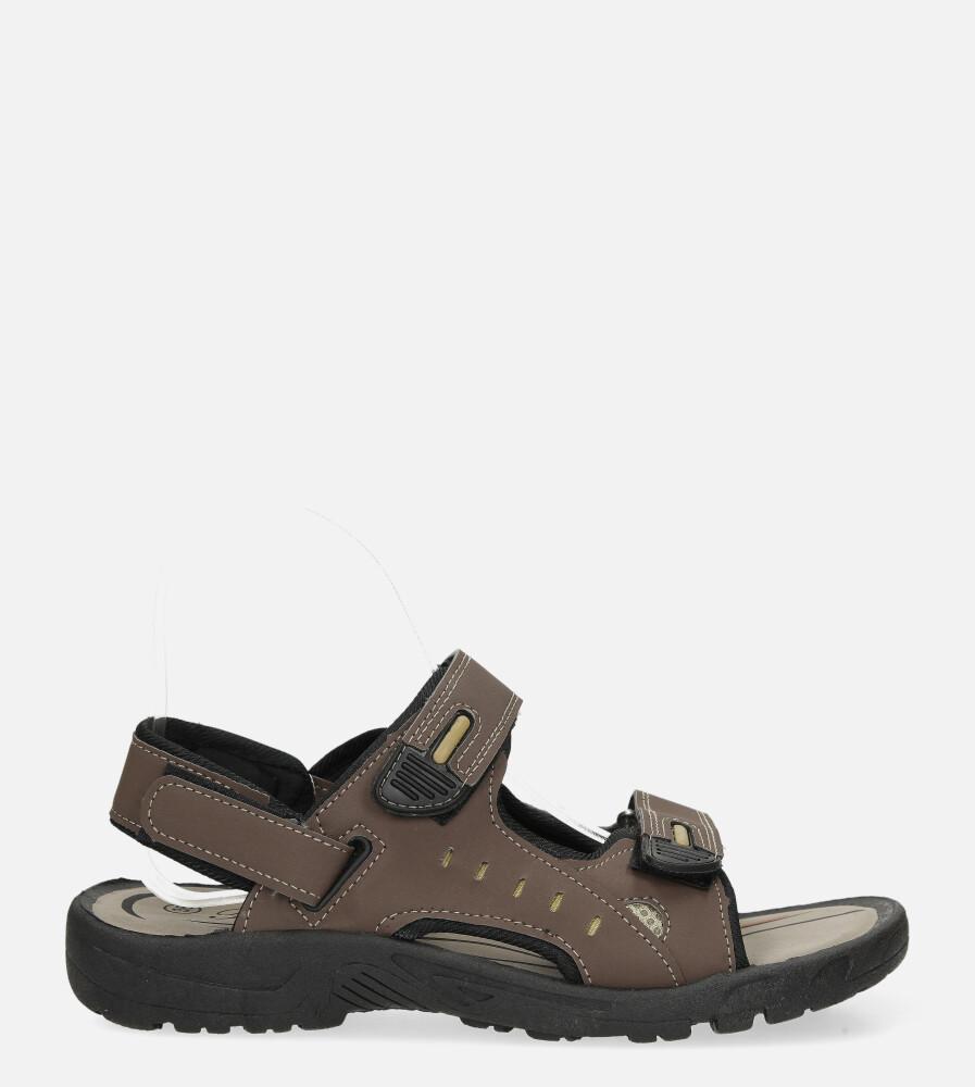 Brązowe sandały na rzepy Casu 3119 brązowy