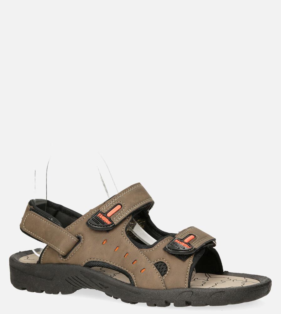 Brązowe sandały na rzepy Casu B-67 producent Casu