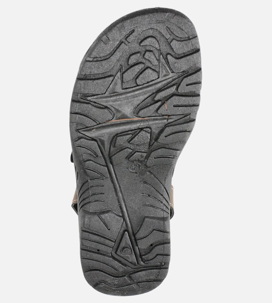 Brązowe sandały na rzepy Casu B-67 wysokosc_obcasa 3 cm