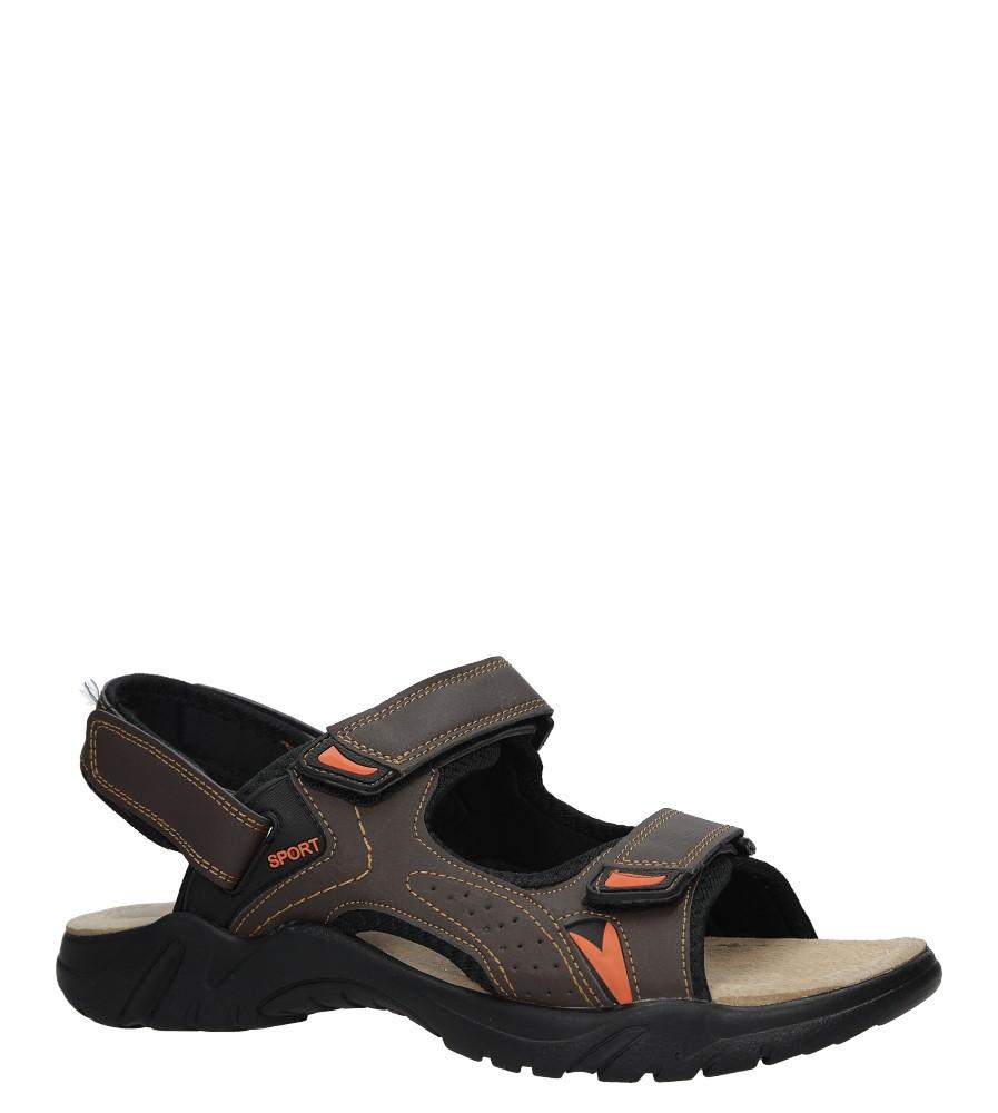 Brązowe sandały na rzepy Casu B9511-7