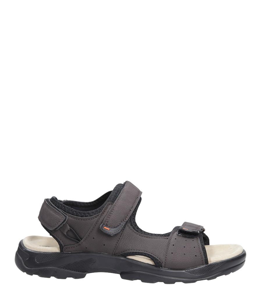 Brązowe sandały na rzepy Casu GT136009