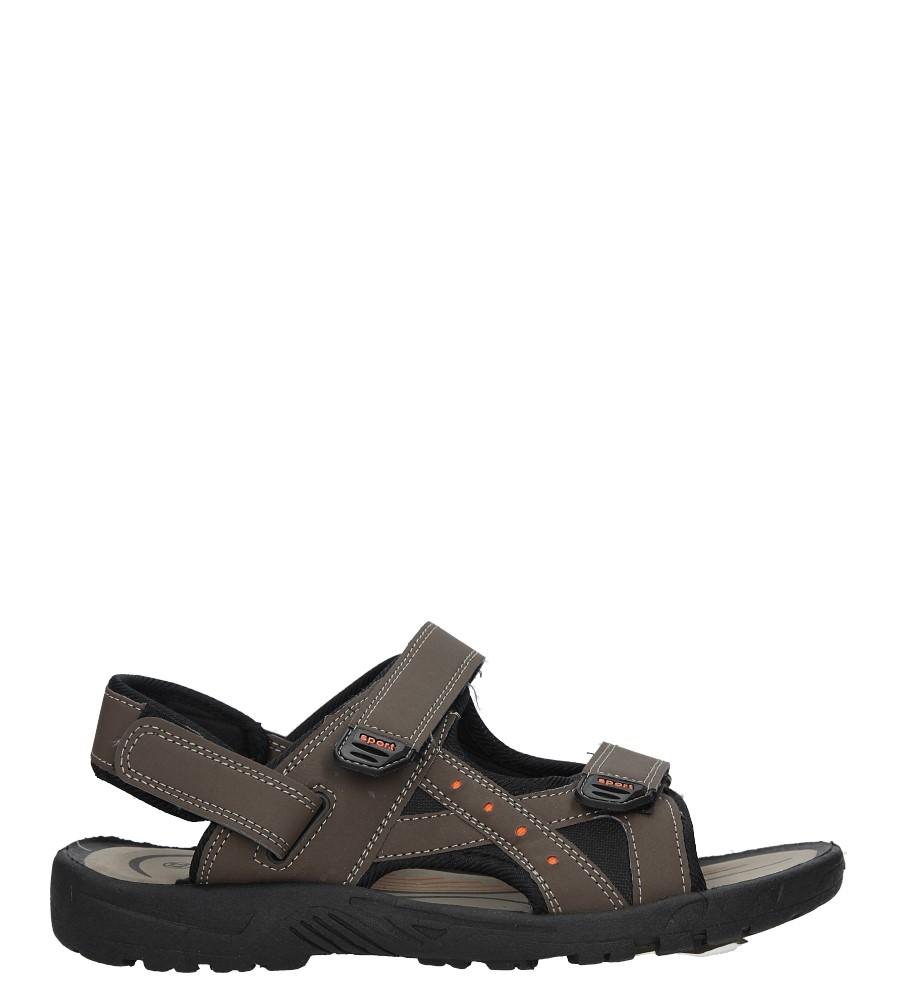Brązowe sandały na rzepy Casu JK01