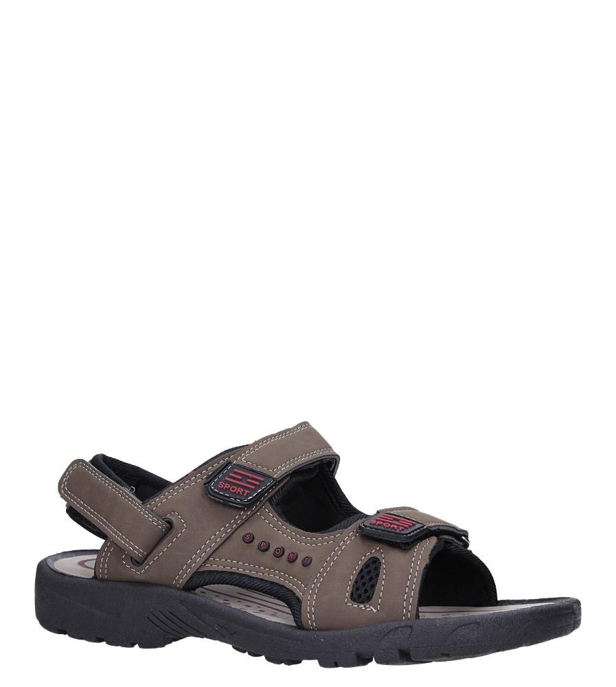 Brązowe sandały na rzepy Casu M2212