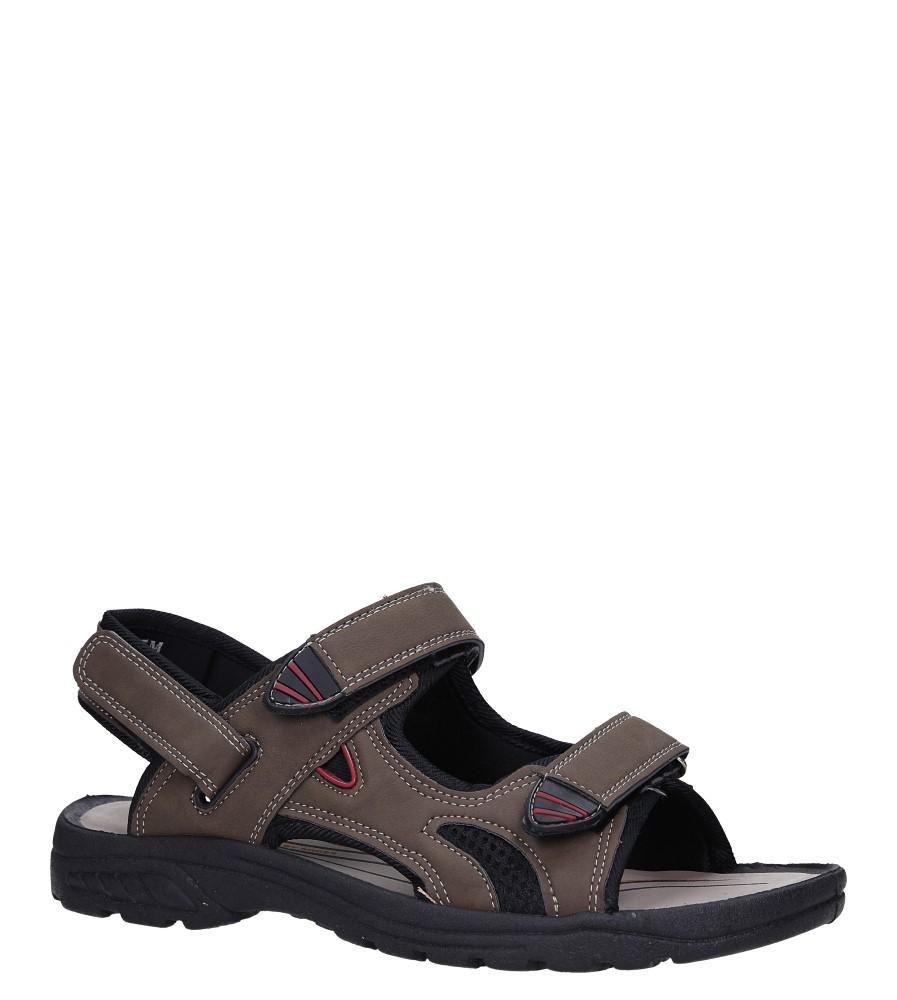 Brązowe sandały na rzepy Casu XH9915M
