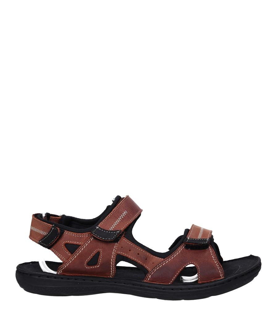 Brązowe sandały skórzane na rzepy Łukbut 09910-4-L-545
