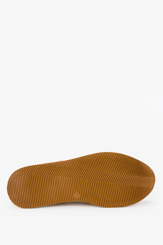 Brązowe sneakersy Kati buty sportowe sznurowane polska skóra 7099 wys_calkowita_buta 11.5 cm