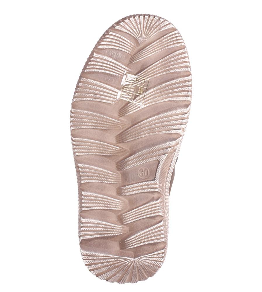 Brązowe trzewiki z ozdobnym suwakiem Casu C715 wys_calkowita_buta 11 cm