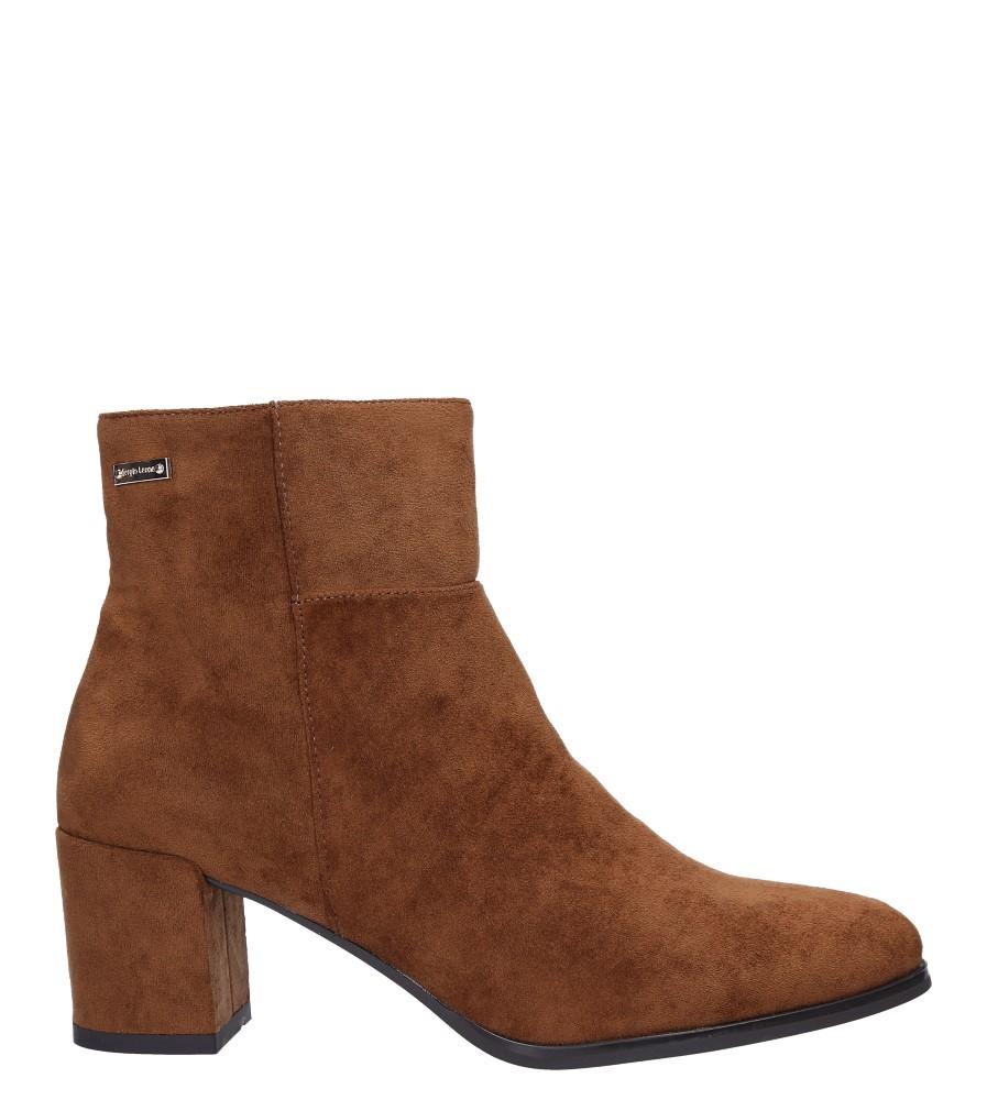 Camelowe botki na szerokim słupku Sergio Leone BT522 wys_calkowita_buta 19 cm