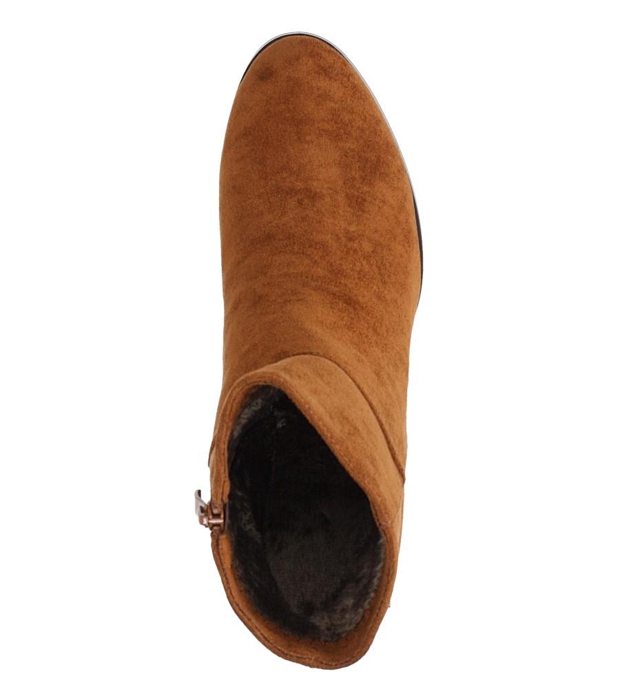 Camelowe botki na szerokim słupku Sergio Leone BT522 obwod_w_kostce 28 cm