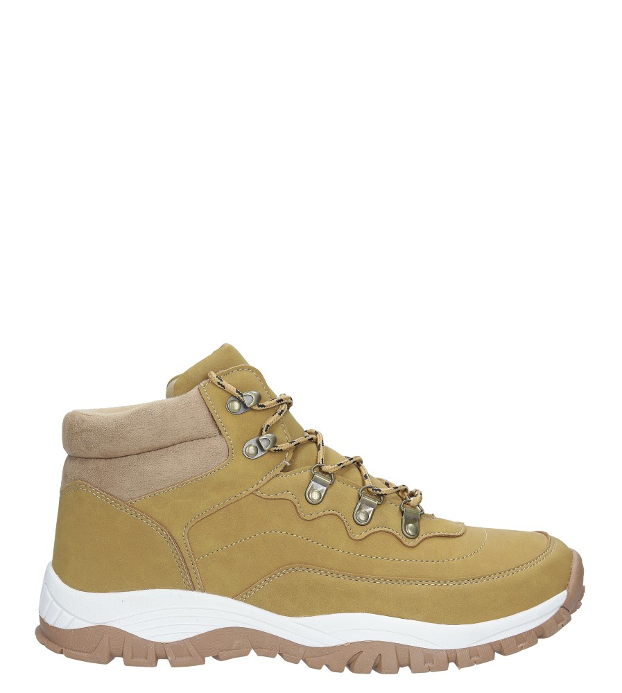 Camelowe buty trekkingowe sznurowane Casu 612-2