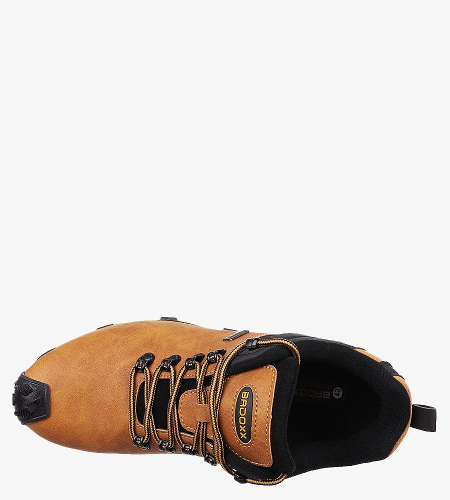 Camelowe buty trekkingowe sznurowane Casu MXC8845 camel