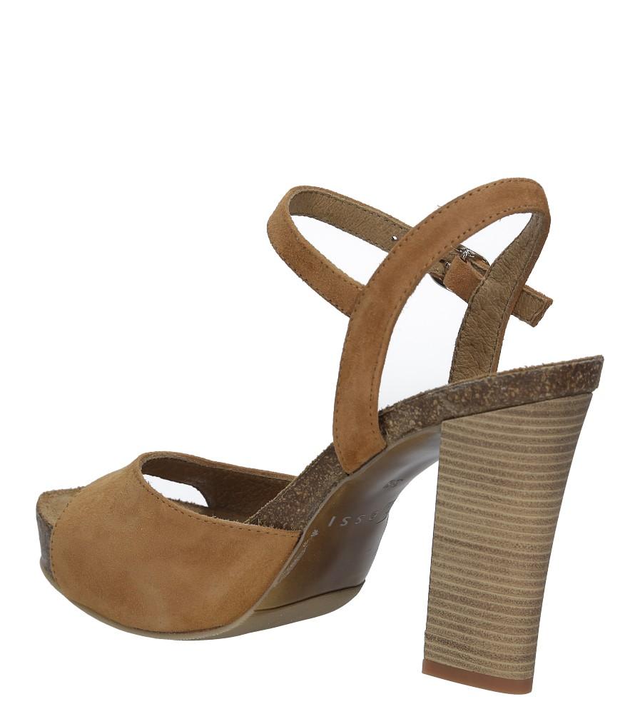 Camelowe sandały skórzane na słupku Nessi 18340 wysokosc_obcasa 11 cm