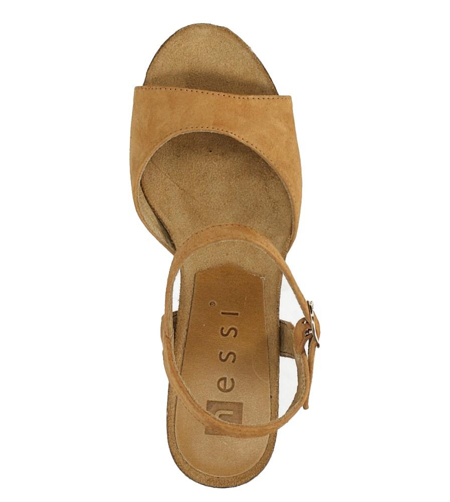 Camelowe sandały skórzane na słupku Nessi 18340 wysokosc_platformy 2 cm