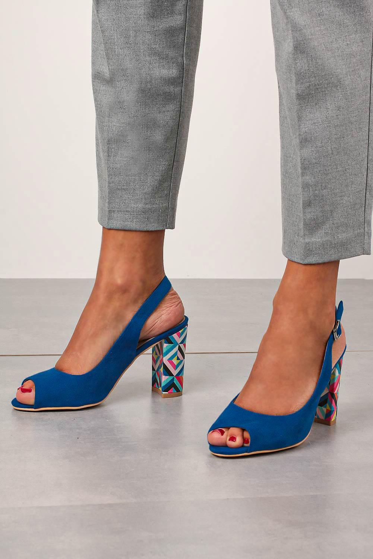 Chabrowe sandały Casu na ozdobnym słupku ze skórzaną wkładką N20X4/BL wysokosc_obcasa 8.5 cm