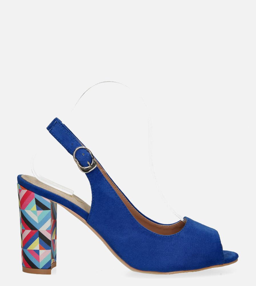 Chabrowe sandały Casu na ozdobnym słupku ze skórzaną wkładką N20X4/BL wysokosc_platformy 0.5 cm