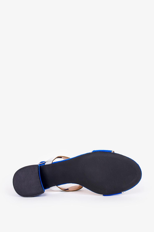 Chabrowe sandały Casu na szerokim słupku ze skórzaną wkładką ER21X11/B wys_calkowita_buta 11 cm