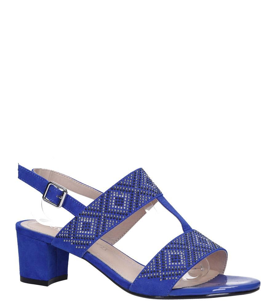 Chabrowe sandały z nitami na szerokim niskim słupku Sergio Leone SK799