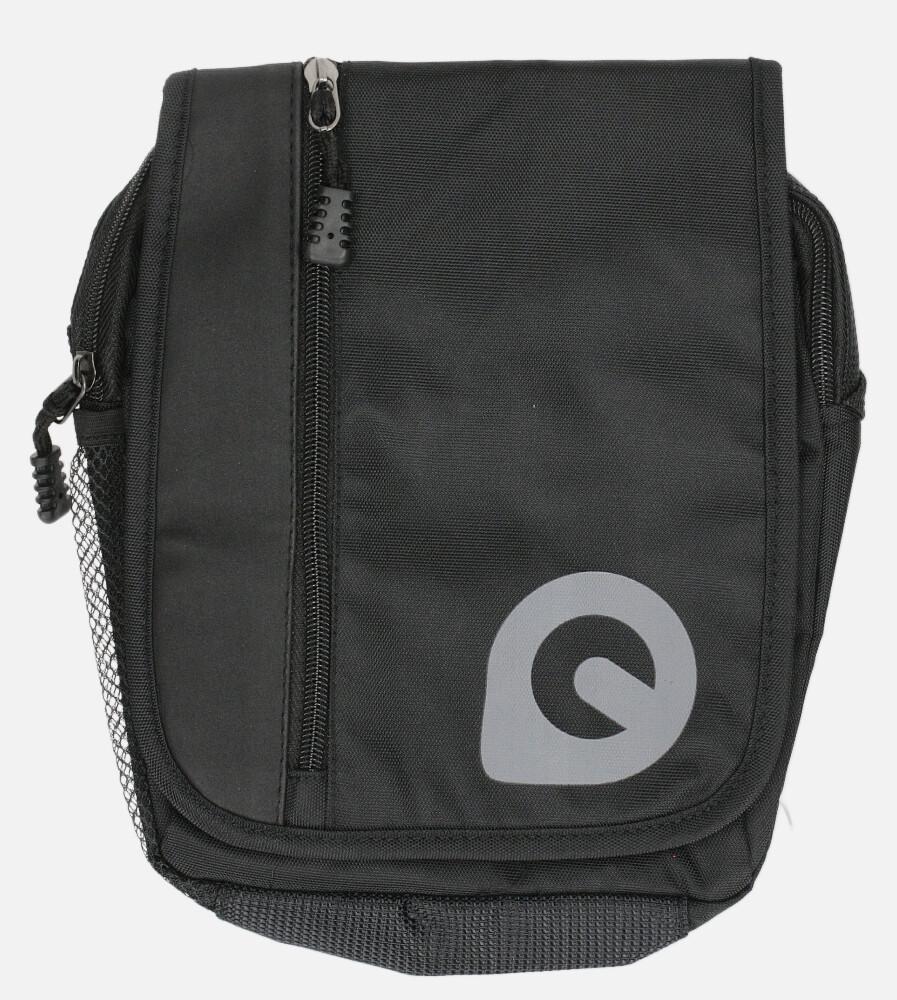 Czarna torba męska na ramię Casu 0368