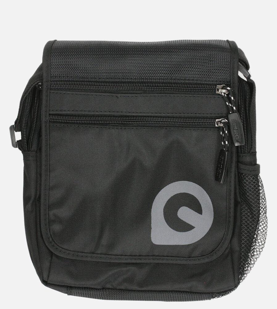 Czarna torba męska na ramię Casu 0466