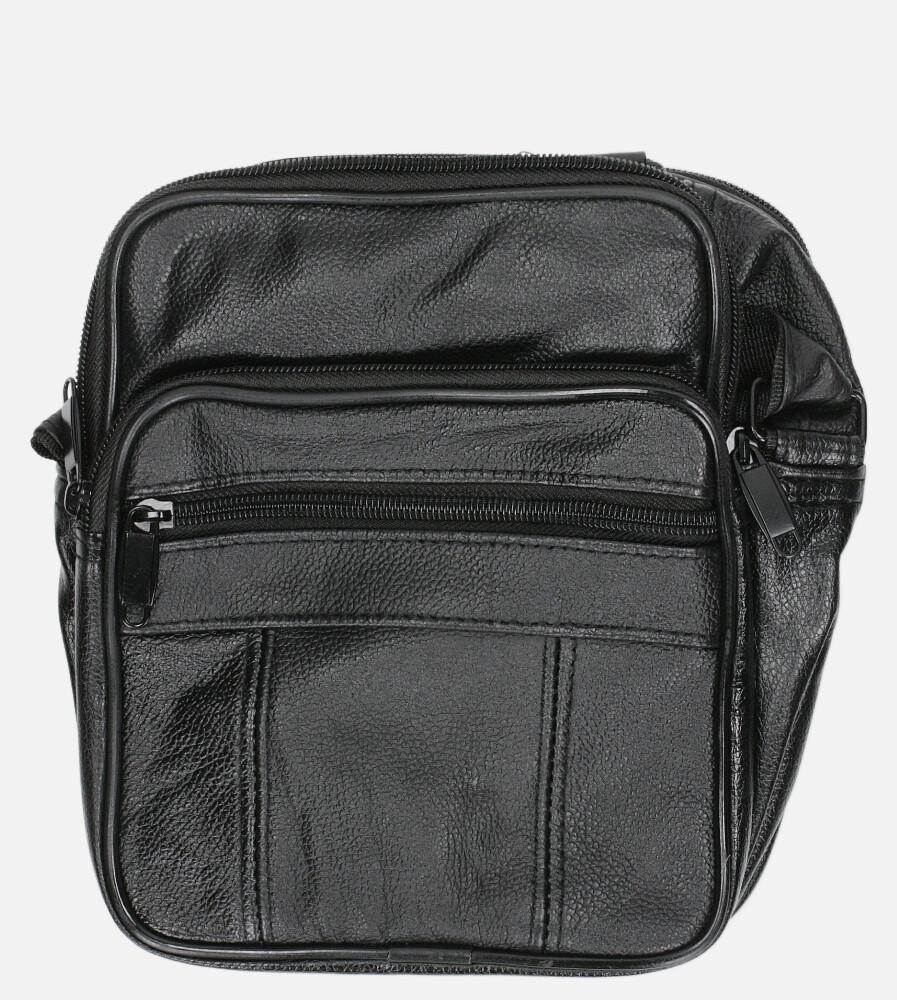 Czarna torba męska na ramię Casu 0986