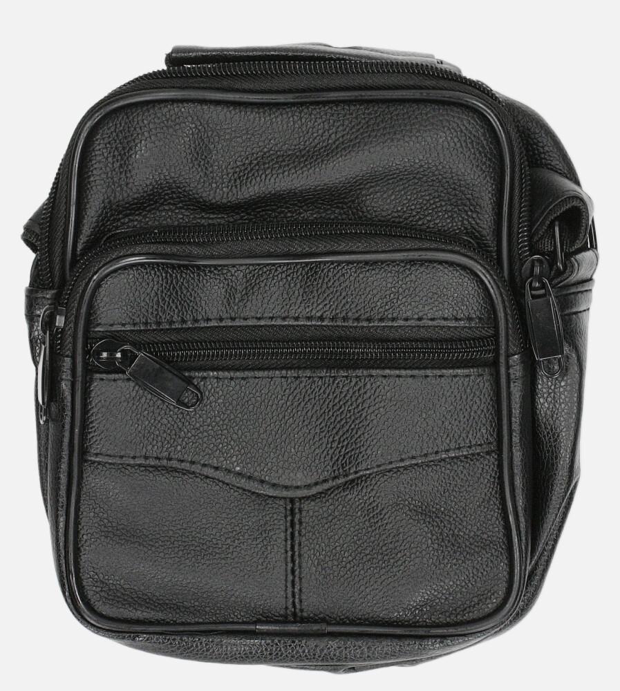 Czarna torba męska na ramię Casu 0988-2