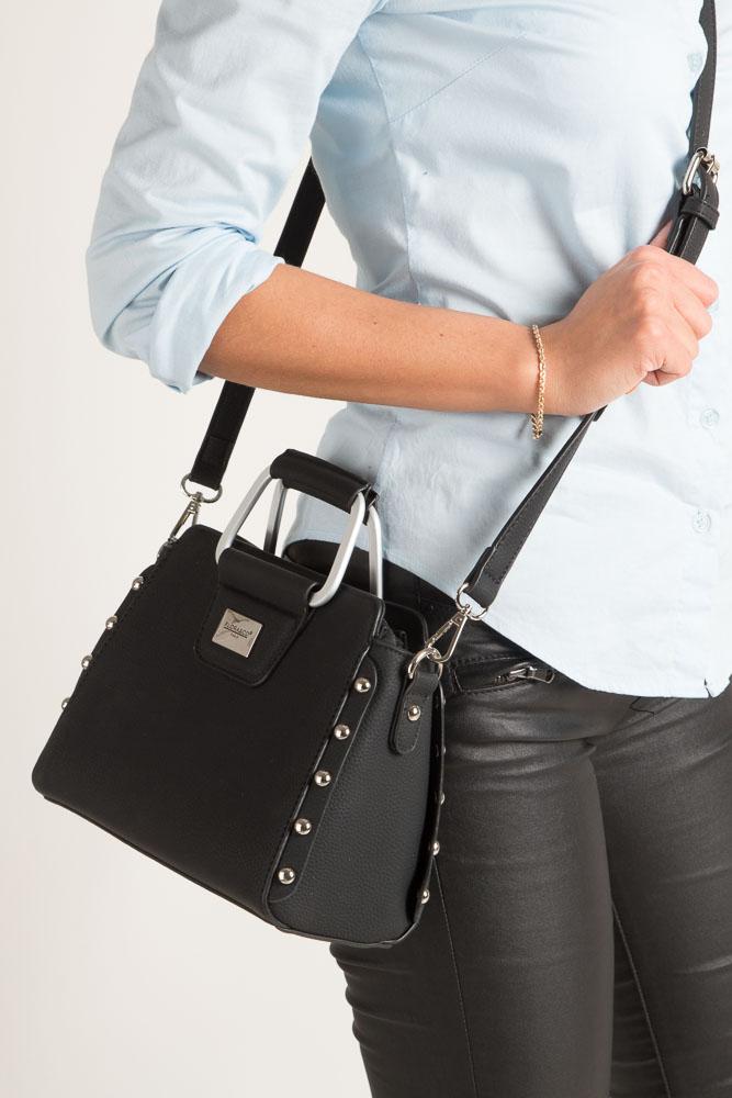 Czarna torebka do ręki Casu S6398