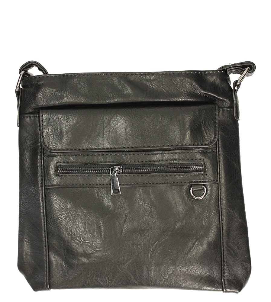 Czarna torebka listonoszka Casu D91