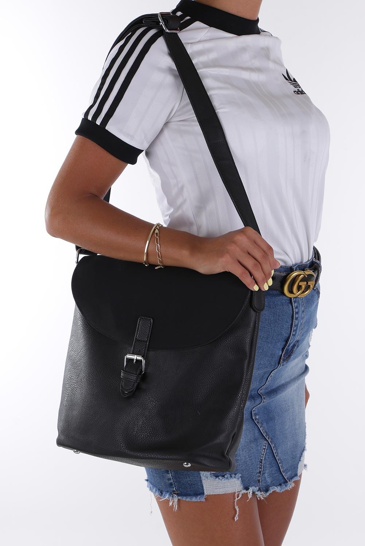 Czarna torebka listonoszka Casu K-60