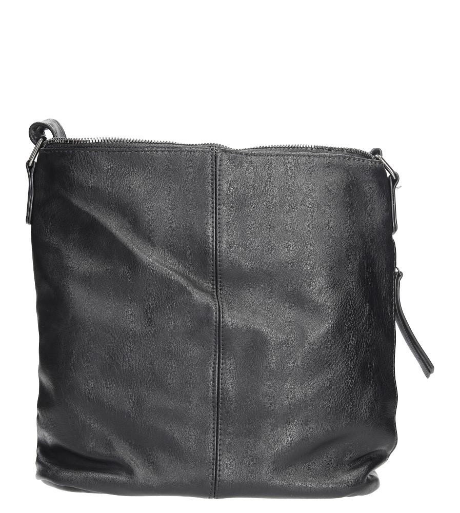 Czarna torebka listonoszka z metalową ozdobą Casu 7719