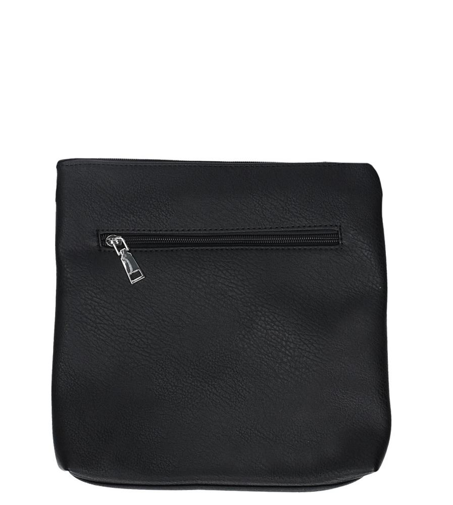Czarna torebka listonoszka z ozdobnym suwakiem Casu 2540-BB