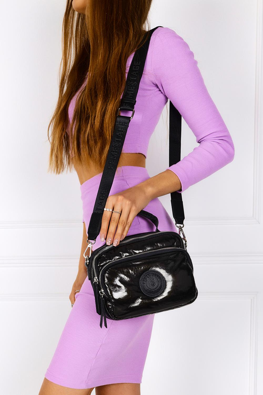 Czarna torebka mała lakierowana z rączką Femestage BAG0730-020
