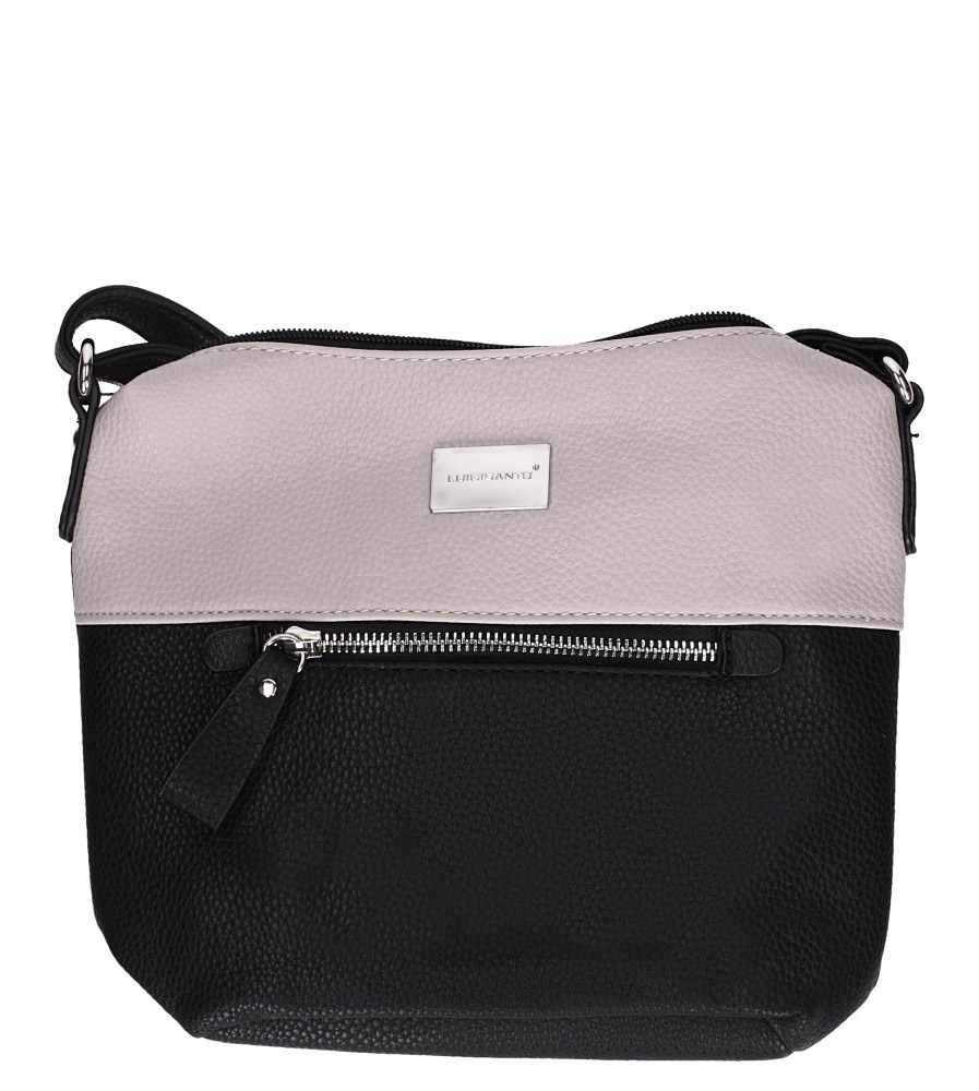 Czarna torebka mała z kieszonką z przodu Casu 75507-3