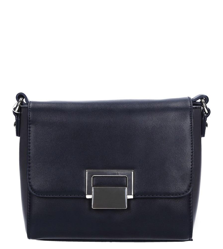 Czarna torebka mała z metalową ozdobą Casu 5259-2
