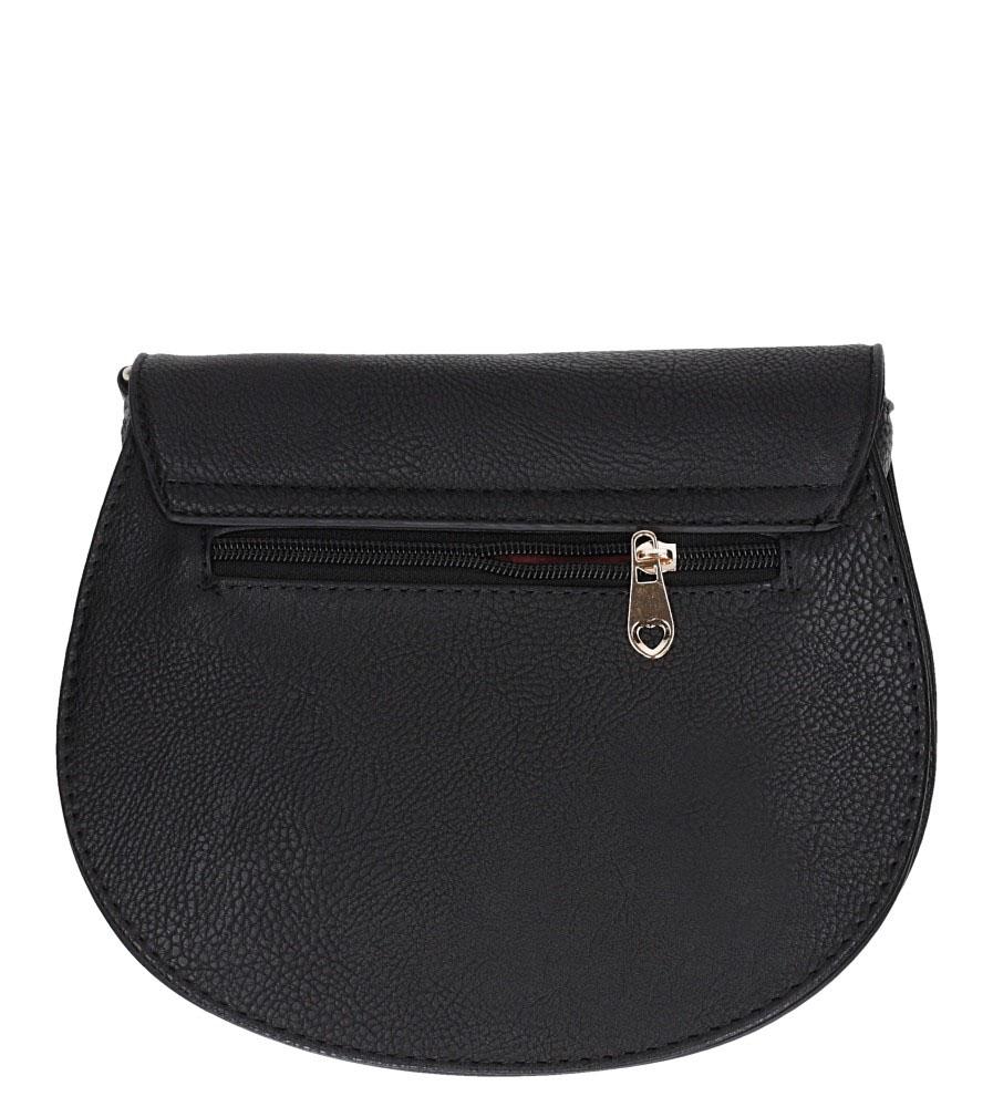 Czarna torebka mała z metalową ozdobą Casu AD-109 kolor czarny