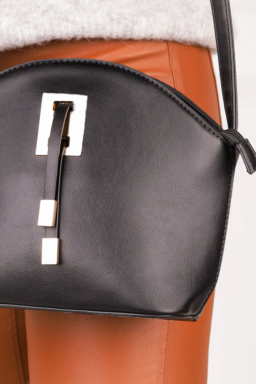 Czarna torebka mała z metalową ozdobą  Casu AK-47