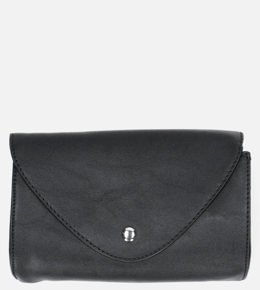 Czarna torebka na pas mała Casu W-550