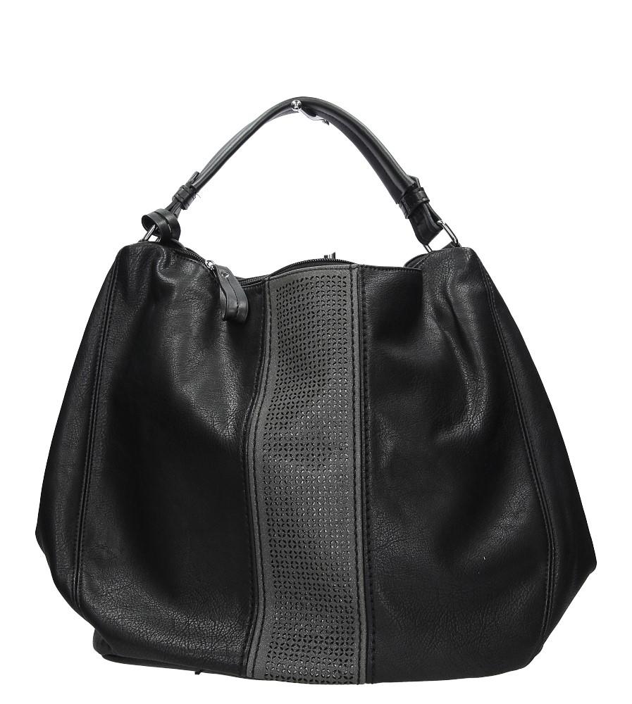 Czarna torebka z ażurowym wykończeniem Casu 2064