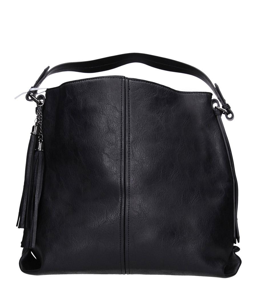 Czarna torebka z frędzlami Casu 4127-BB