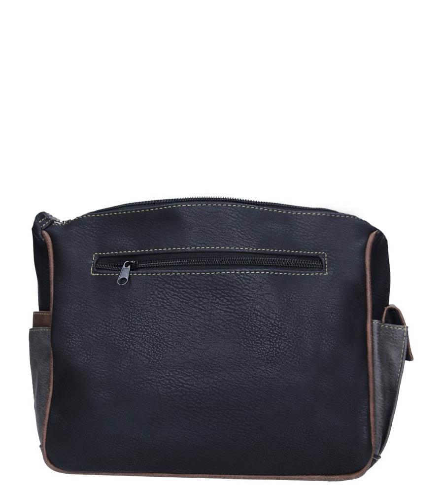 Czarna torebka z kieszonką z przodu Casu 1719E